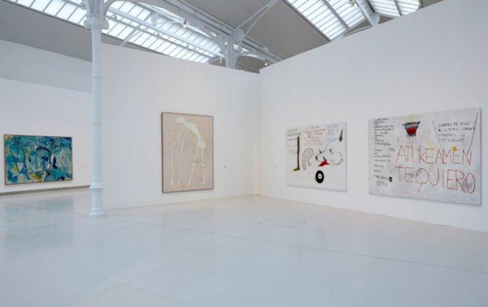 Vista de sala de la exposición Idea: Pintura Fuerza, 2013
