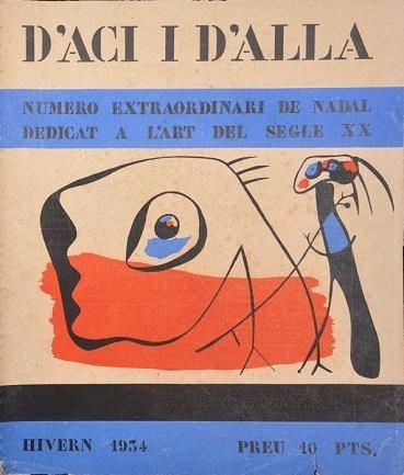 D'ací i d´allà , Portada del número extraordinario de Invierno. Imagen cubierta Joan Miró. Barcelona, 1934