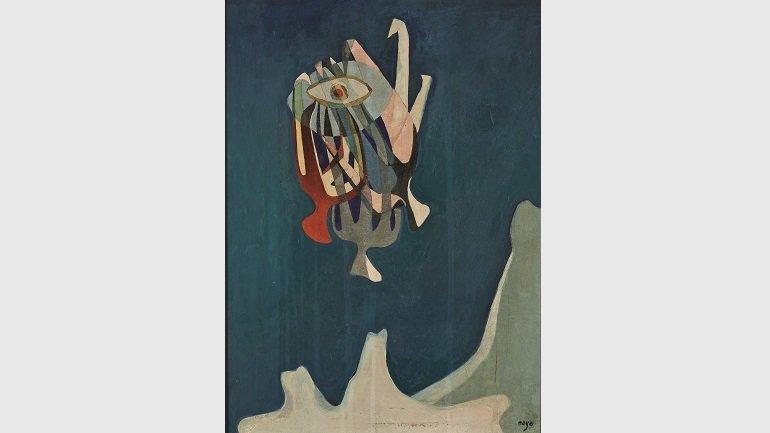 A. Mayo (Antonis Malliarakis). El pájaro, 1937. Óleo sobre tabla, 46 x 22 cm. Centro Cultural Europeo de Delfos, Grecia