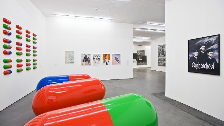 View of the Falckenberg Collection at Phoenix Kulturstiftung, with works by General Idea