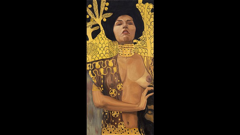 Claudia Coca. Judith. Apres, Klimt, 2004. Oil on canvas. Courtesy of the artist
