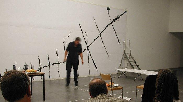 Matt Mullican. Untitled (Matt Mullican under hypnosis: Zürich). Performance, 2004