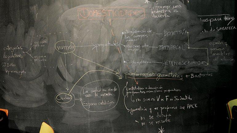 Diana Vázquez. Mapa conceptual de Domesticidades. 2016