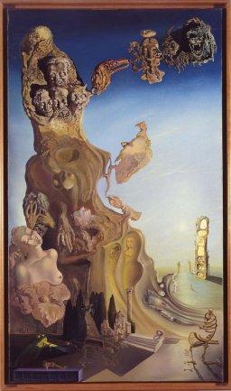 Salvador Dalí. La mémoire de la femme-enfant (La memoria de la mujer-niña), 1929. Óleo y collage sobre lienzo. Museo Nacional Centro de Arte Reina Sofía