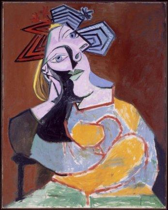 Pablo Picasso. Femme assise accoudée (Mujer sentada acodada), 1939. Óleo sobre lienzo. Museo Nacional Centro de Arte Reina Sofía