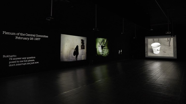 View from the exhibition William Kentridge. Enough and more than enough