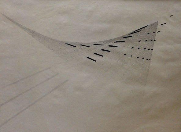 Mohamedi, Nasreen. Sin título (Untitled), Ca. 1975. Tinta y grafito sobre papel, 48,3 x 61 cm. Colección Jayshree & Sanjay Lalbhai, Ahmedabad (propiedad de Aura Securities Private limited)