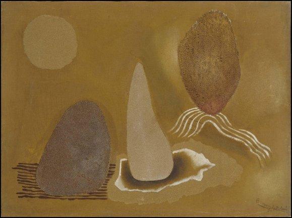 Benjamín Palencia. Figuras, 1930. Painting. Museo Nacional Centro de Arte Reina Sofía Collection, Madrid