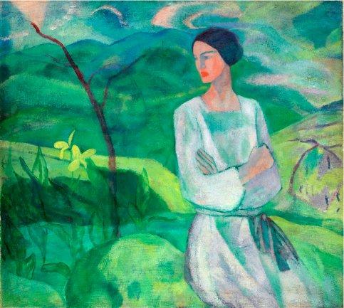 Jose Mª Ucelay. Neskatil-bat (una muchacha), 1922. Óleo sobre lienzo. Museo de Bellas Artes de Bilbao