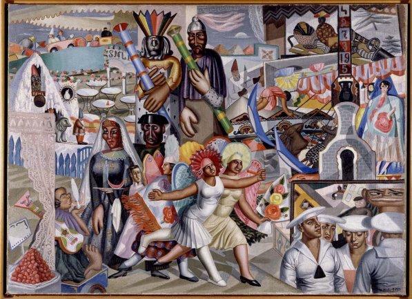 Maruja Mallo. La verbena, 1927. Pintura. Colección Museo Nacional Centro de Arte Reina Sofía, Madrid