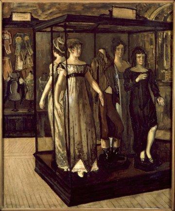 José Gutierrez Solana. Las vitrinas (Showcases), 1910. Painting. Museo Nacional Centro de Arte Reina Sofía Collection, Madrid