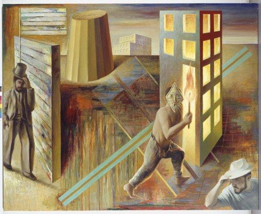 Guillermo Pérez Villalta. La juventud de los héroes, 1987. Pintura. Colección Museo Nacional Centro de Arte Reina Sofía, Madrid