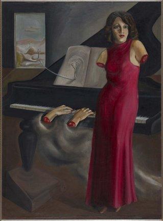 Óscar Domínguez. Retrato de la pianista Roma, 1933. Pintura. Depósito de colección particular