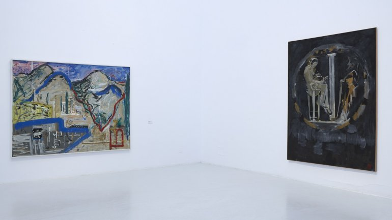 Vista de sala de la exposición. Idea: Pintura Fuerza, 2013