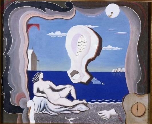 Joan Massanet. Nacimiento de Venus (Birth of Venus), 1927. Painting, Museo Nacional Centro de Arte Reina Sofía Collection