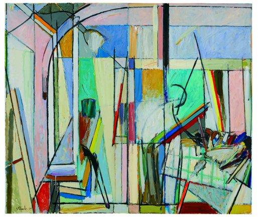 Alfonso Albacete, In the Studio, 1979. Oil on canvas, 196 x 228 cm. Colección Fundación Juan March, Museu Fundación Juan March, Palma. © VEGAP, Madrid, 2013
