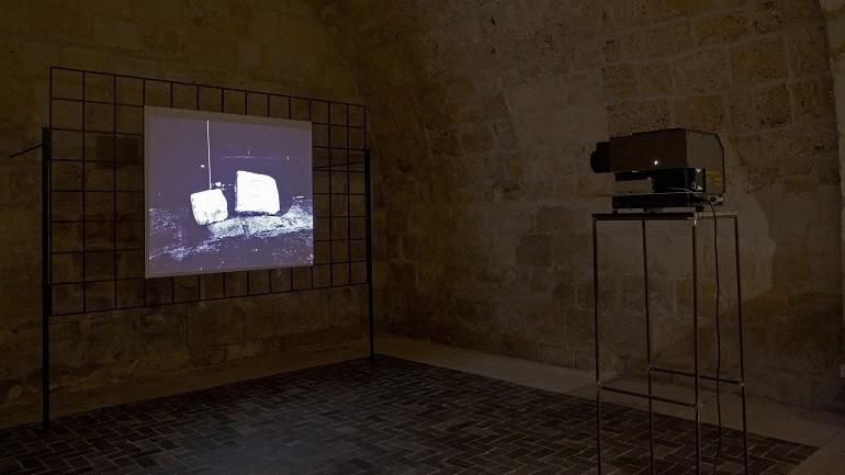 Vista de sala de la exposición. Ibon Aranberri. Gramática de meseta, 2010