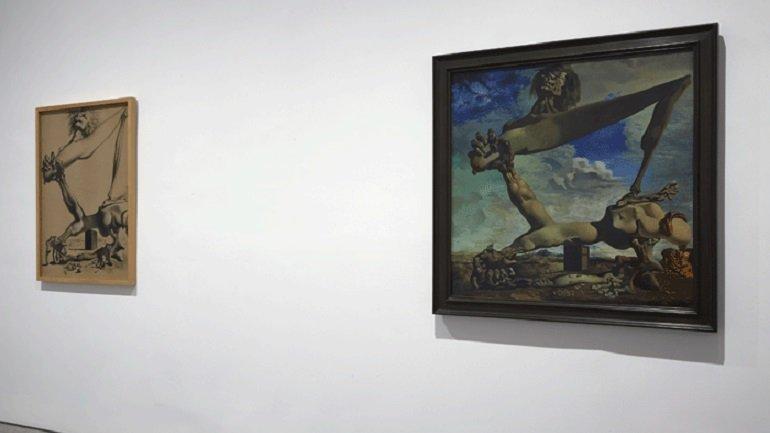 Vista de sala de la exposición. Dalí Todas las sugestiones poéticas y todas las posibilidades plásticas, 2013