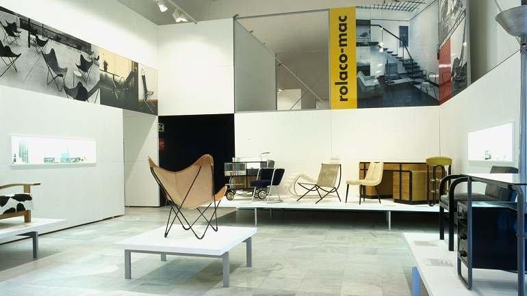 Vista de sala de la exposición. Diseño industrial en España, 1998