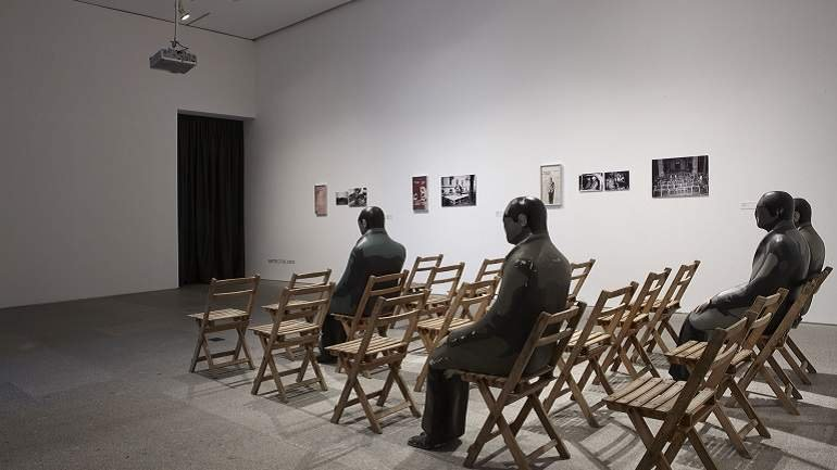 Vista de sala de la exposición. The Pamplona Encounters 1972: The End of the Party for Experimental Art, 2009