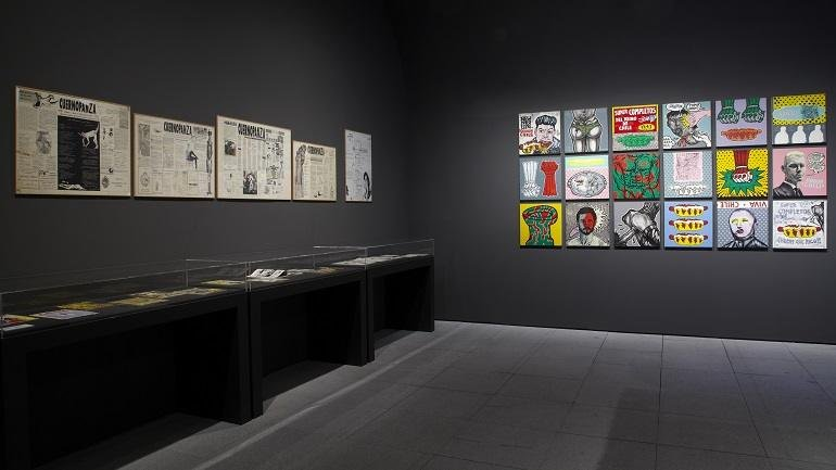 Vista de sala de la exposición. Perder la forma humana, 2012