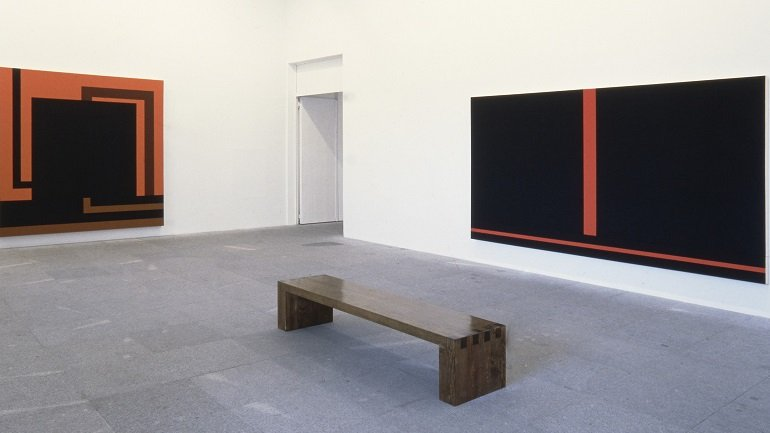 Exhibition view. Peter Halley, 1992