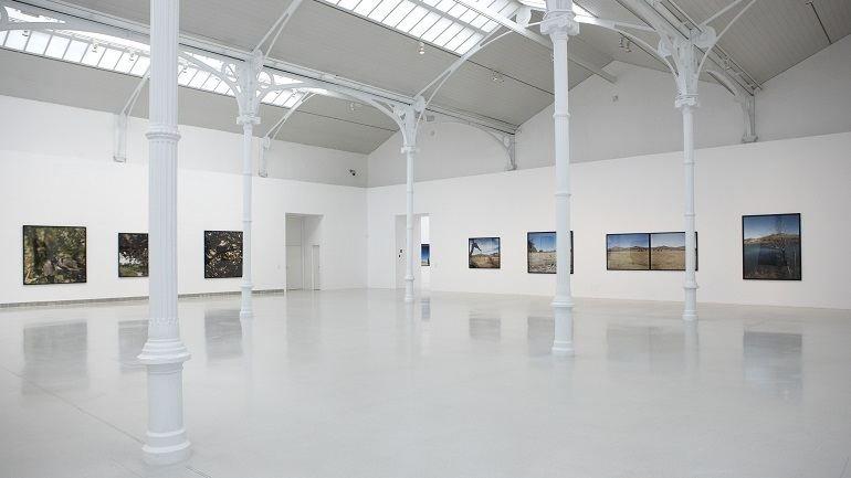 Vista de sala de la exposición. Jean-Luc Mylayne. Trazos del cielo en manos del tiempo, 2010