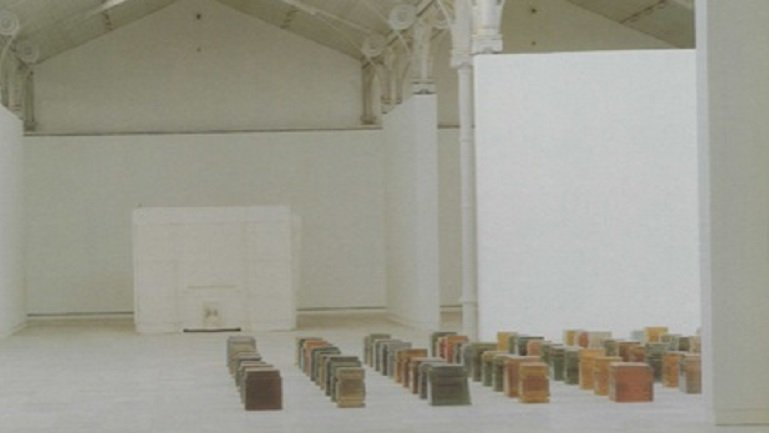 Exhibition view. Rachel Whiteread. One Hundred Spaces, 1997