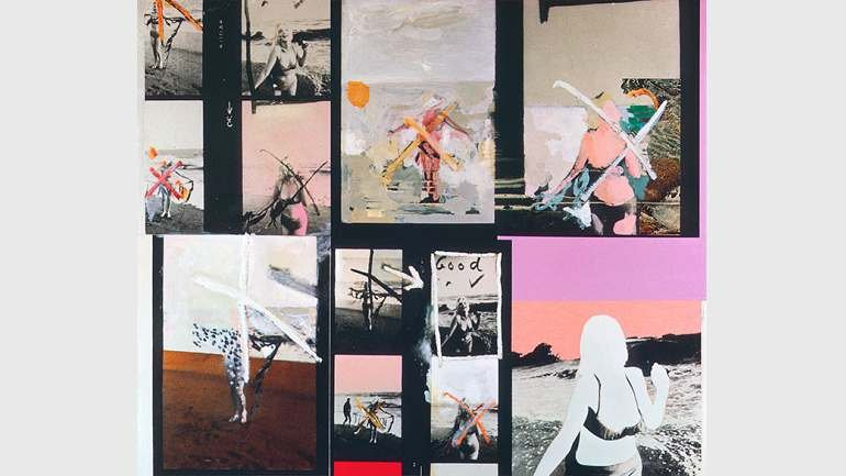 Richard Hamilton. My Marilyn.  1965. Oil, collage and photograph on panel. 102.5 x 122 cm. Collection Ludwig, Ludwig Forum für Internationale Kunst, Aachen