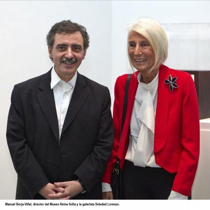 Manuel Borja-Villel, director del Museo Reina Sofía y la galerista Soledad Lorenzo