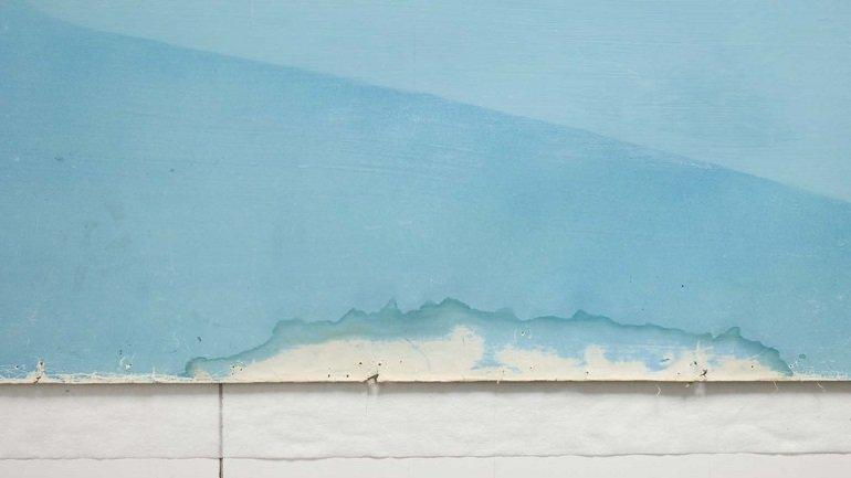 Deterioro del perímetro por manchas de origen acuoso con arrastre de pigmentos