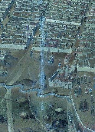 Detalle fotografía ultravioleta de Descripción del Cerro Rico e Imperial. Villa de Potosí