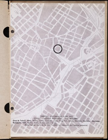 """""""Terrassa informació d'art"""". Institut Industrial, 1973. Archivo Francesc Abad. Centro de Documentación"""