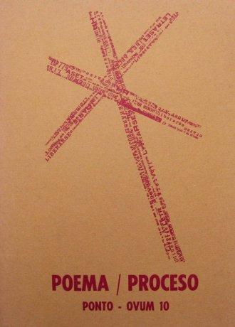 Tapa de la plaqueta Poema / Proceso, Montevideo, Ponto-OVUM 10, 1969. Archivo Clemente Padín (UDELAR, Montevideo)