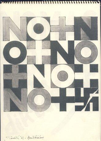 Imagen perteneciente del documento enviado al CADA con colaboraciones del colectivo NO+ en Bruselas. (1984). CADA // Archivo en uso.
