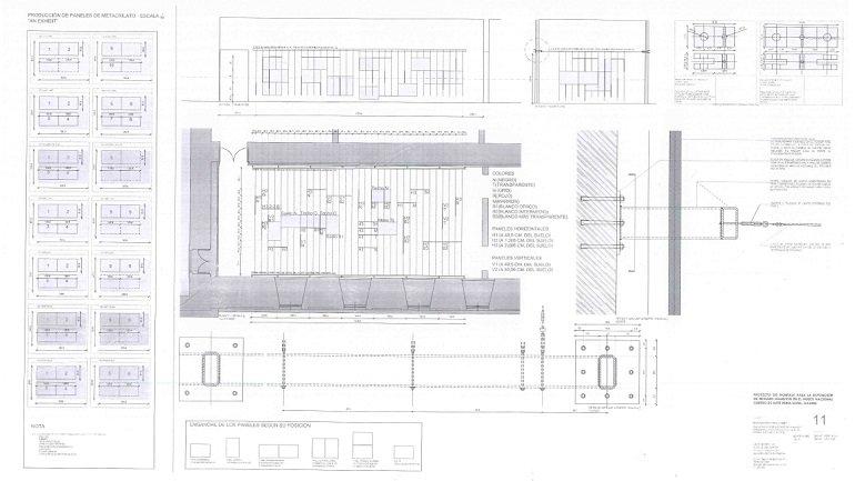 Floor plan of the installation An Exhibit in the museum's galleries