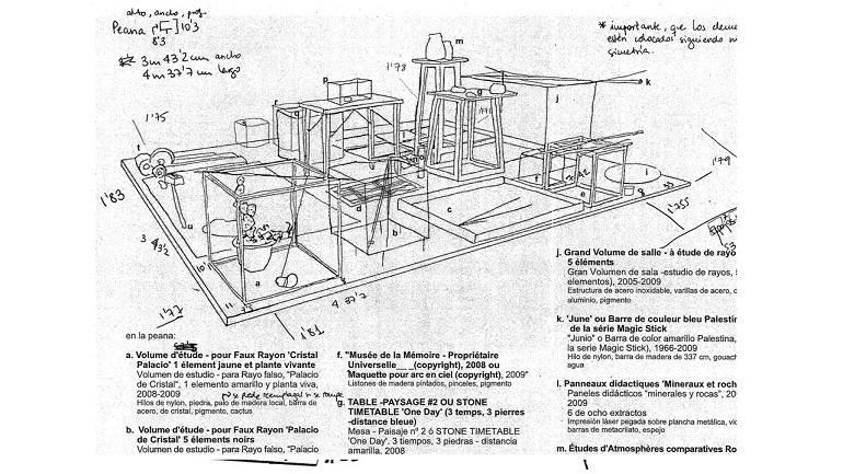 Plano de montaje instalación Peana CRYSTAL TIMES
