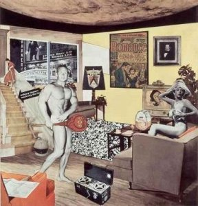 Richard Hamilton. Just what is it that makes today's homes so different, so appealing?, 1956/1992. Collage. 26 x 25 cm. Private collection. © R. Hamilton. All Rights Reserved, VEGAP, Madrid, 2014