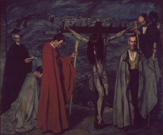 Ignacio Zuloaga. El Cristo de la sangre, 1911. Óleo sobre lienzo, 248 x 302 cm / Con marco: 256,5 x 308 cm