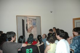 """En la sala """"La nueva cultura en España. Entre lo popular y lo moderno"""". Museo Reina Sofía, 2010"""
